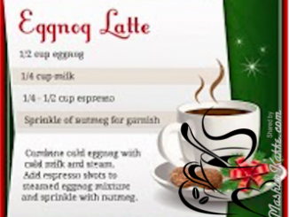 Starbucks DIY Eggnog Latte