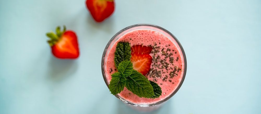Strawberry Smoothie by Joanna Kosinska