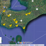 Map of egg farms in Windsor-Essex, and Chatham-Kent