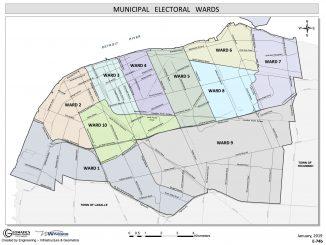 City of Windsor Ontario Ward Map