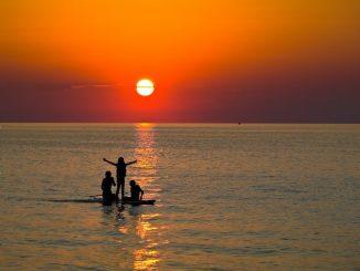 Silhouette on Lake Erie